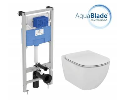 Комплект инсталляция с унитазом Ideal Standard Tesi Aquablade T386801