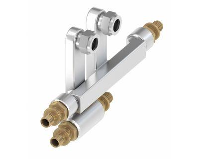 TECElogo 8740422 Двойной тройник для подключения радиаторов SLHK 20 х 15Cu х 20