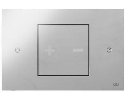 Панель смыва пневматическая OLI Inox-x 01 хром матовый (661001)