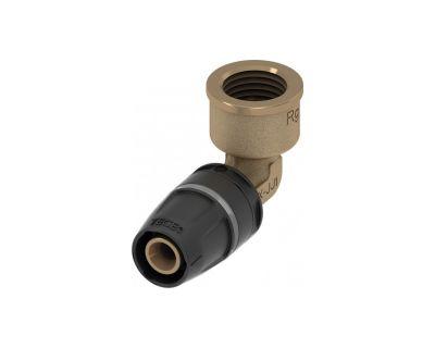 TECElogo 8713205 Уголок соединительный 90° 25 х Rp 3/4 с муфтой, бронза