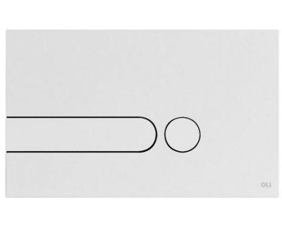 Панель смыва механическая OLI iPlate белая soft-touch (670008)