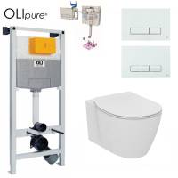 Инсталляция OLI 120 OLIpure (Fresh) с унитазом Ideal Standard Connect Aquablade