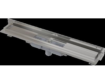 Душевой лоток AlcaPlast Low APZ1104-550 для перфорированной решетки с регулируемым краем к стене, с вертикальным стоком