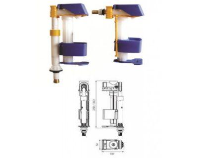 Наполнительный клапан OLI AZOR Combi 1/2, латунь 309991 подходит как для боковой подводки, так и для универсальной.