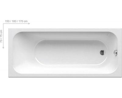Акриловая ванна Ravak Chrome SLIM 160x70, C731300000