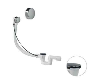 Сифон ванны автомат Plastbrno EVS0150 крышка и пробка, металл