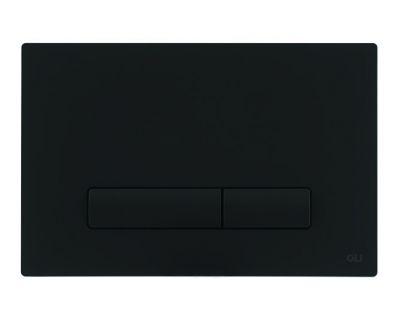 Панель смыва механическая OLI GLAM черный Soft-Touch (139187)