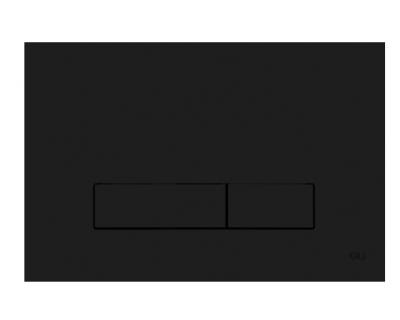 Панель смыва механическая OLI Narrow черная Soft-Touch (152942)