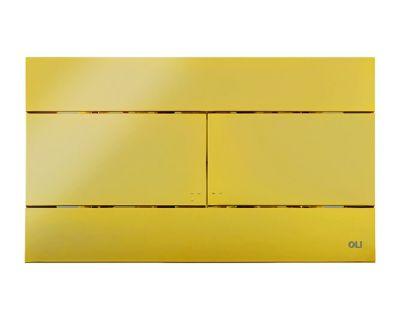 Панель смыва механическая OLI Slim золотая (154962)
