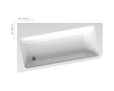 Акриловая ванна Ravak 10° 170x100 L, C811000000
