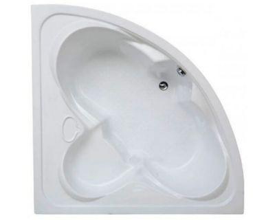 Акриловая ванна BAS Дрова 160x160 на каркасе с сифоном