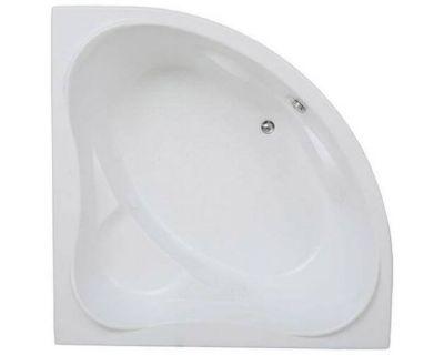 Акриловая ванна BAS Мега 160x160 на каркасе с сифоном