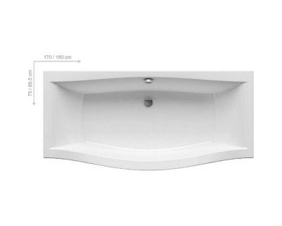 Акриловая ванна Ravak Magnolia 170x75, C501000000