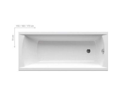Акриловая ванна Ravak Classic 170x70, C541000000