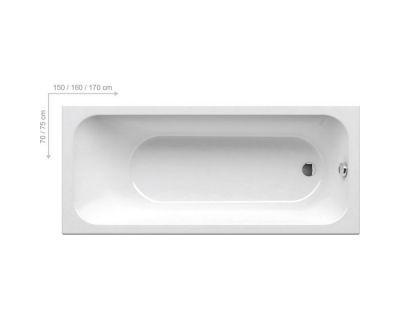Акриловая ванна Ravak Chrome 170x75, C741000000