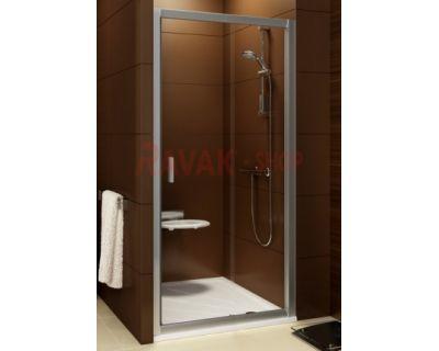Душевая дверь Ravak Blix BLDP2 - 120 белый + грапе 0PVG0100ZG