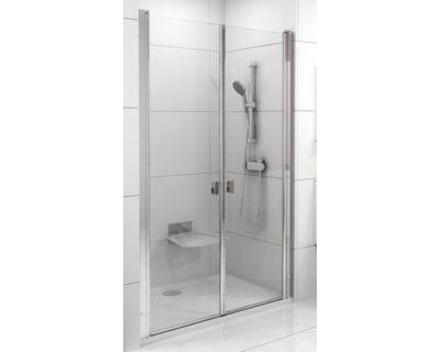 Душевая дверь Ravak Chrome CSDL2-90 белый+стекло Transparent 0QV7C10LZ1