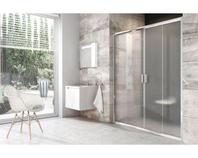 Душевая дверь Ravak Blix BLDP4 - 150 белый + грапе 0YVP0100ZG