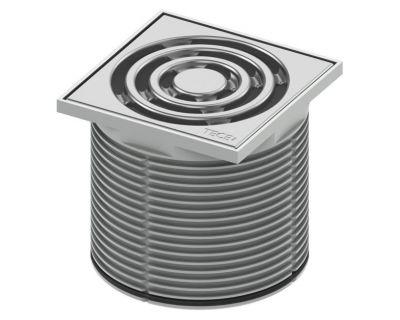 Декоративная решетка TECEdrainpoint S 100 мм 3660001 с монтажным элементом в пластиковой рамке