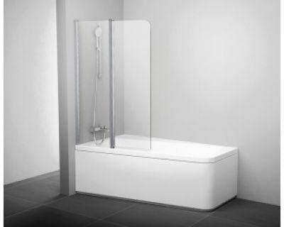 Шторка для ванны Ravak 10° 10CVS2 L блестящая+транспарент 7QLA0C03Z1