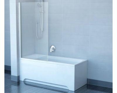Шторка для ванны Ravak CVSK1 Rosa 160/170 7QLS0100Y1 L белая+транспарент