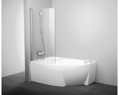 Шторка для ванны Ravak CVSK1 Rosa 160/170 7QLS0C00Y1 L блестящая+транспарент