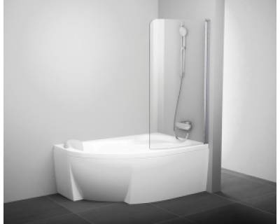 Шторка для ванны Ravak CVSK1 ROSA 140/150 L белая+транспарент 7QLM0100Y1