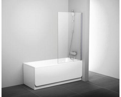 Шторка для ванны Ravak PVS1-80 белая + транспарент 79840100Z1