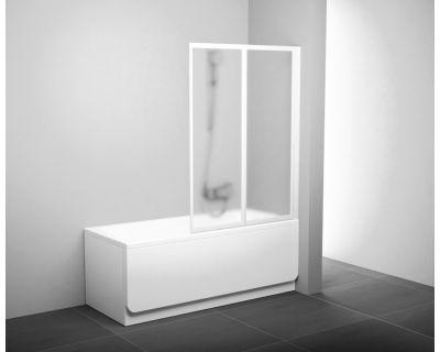 Шторка для ванны Ravak VS2 - 105 белая + транспарент 796M0100Z1