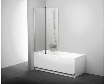 Шторка для ванны Ravak Chrome CVS2-100 L блестящая+транспарент 7QLA0C00Z1