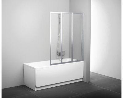Шторка для ванны Ravak VS3 - 130 белая + транспарент 795V0100Z1