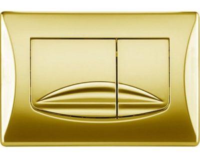 Панель смыва механическая OLI River золото (638508)