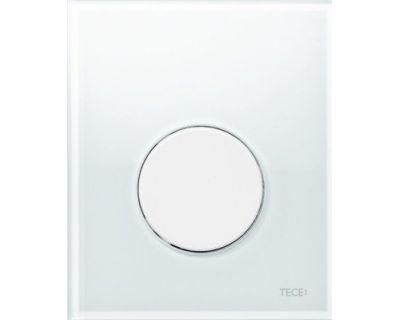 Смывная клавиша для писсуара TECEloop Urina 9242650, стекло белое, клавиша белая