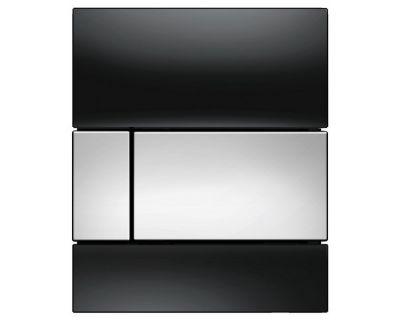 Смывная клавиша для писсуара TECEsquare Urina 9242807, стекло черное, клавиша хром глянцевый