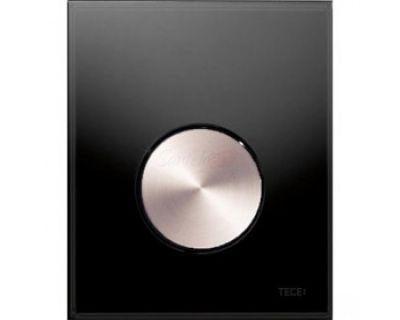Смывная клавиша для писсуара TECEloop Urina 9242663, стекло черное, клавиша сатин