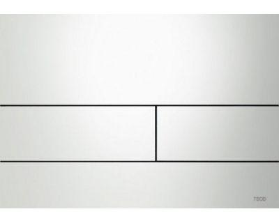 Смывная клавиша TECEsquare 9240812, сталь, белая глянцевая