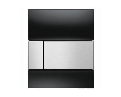 Смывная клавиша для писсуара TECEsquare Urina 9242806, стекло черное, клавиша сатин
