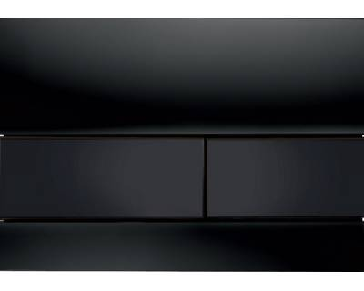 Смывная клавиша TECEsquare 9240809, стекло черное, клавиши черные