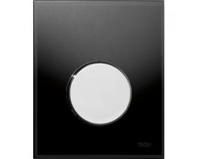 Смывная клавиша для писсуара TECEloop Urina 9242656, стекло черное, клавиша хром глянцевый