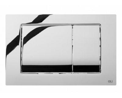Панель смыва механическая OLI Metal Dual хром (656004)