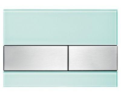 Смывная клавиша TECEsquare 9240804, стекло зеленое, клавиши сатин