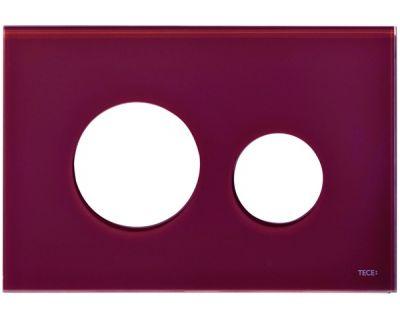 Лицевая панель TECEloop modular 9240679, стекло рубиновое