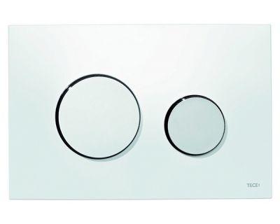 Смывная клавиша TECEloop 9240627, пластик, белая, клавиши хром глянцевый