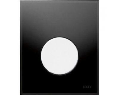 Смывная клавиша для писсуара TECEloop Urina 9242654, стекло черное, клавиша белая