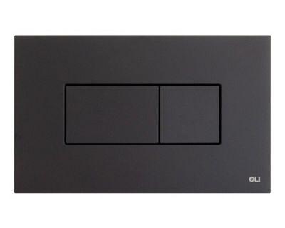 Панель смыва пневматическая OLI Karisma чёрная soft-touch (641015)