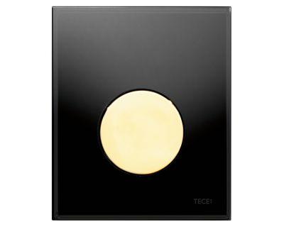 Смывная клавиша для писсуара TECEloop Urina 9242658, стекло черное, клавиша позолоченная