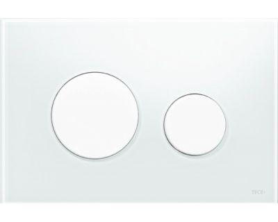 Смывная клавиша TECEloop 9240650, стекло белое, клавиши белые