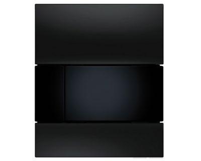 Смывная клавиша для писсуара TECEsquare Urina 9242809, стекло черное, клавиша черная