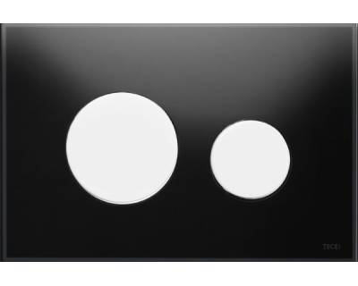 Смывная клавиша TECEloop 9240654, стекло черное, клавиши белые