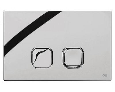 Панель смыва механическая OLI Plain хром (070827)